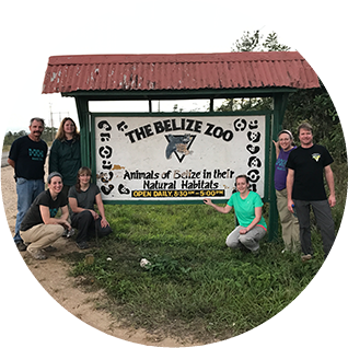 The Belize Zoo Entry Sign
