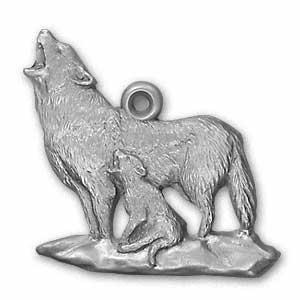 1997 Wolf Ornament