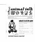 Animal Talk August 1980 - No 58